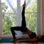 Bridge Pose leg raised variation