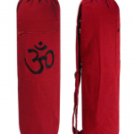 OM cotton, yoga mat bag with pocket & adjustable strap