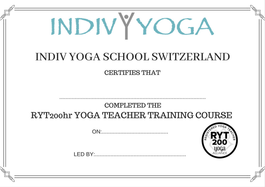 Indiv Yoga 200 Hrs Yoga Teacher Training