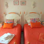 Portugal RYT 200 Course Twin Bedroom Orange