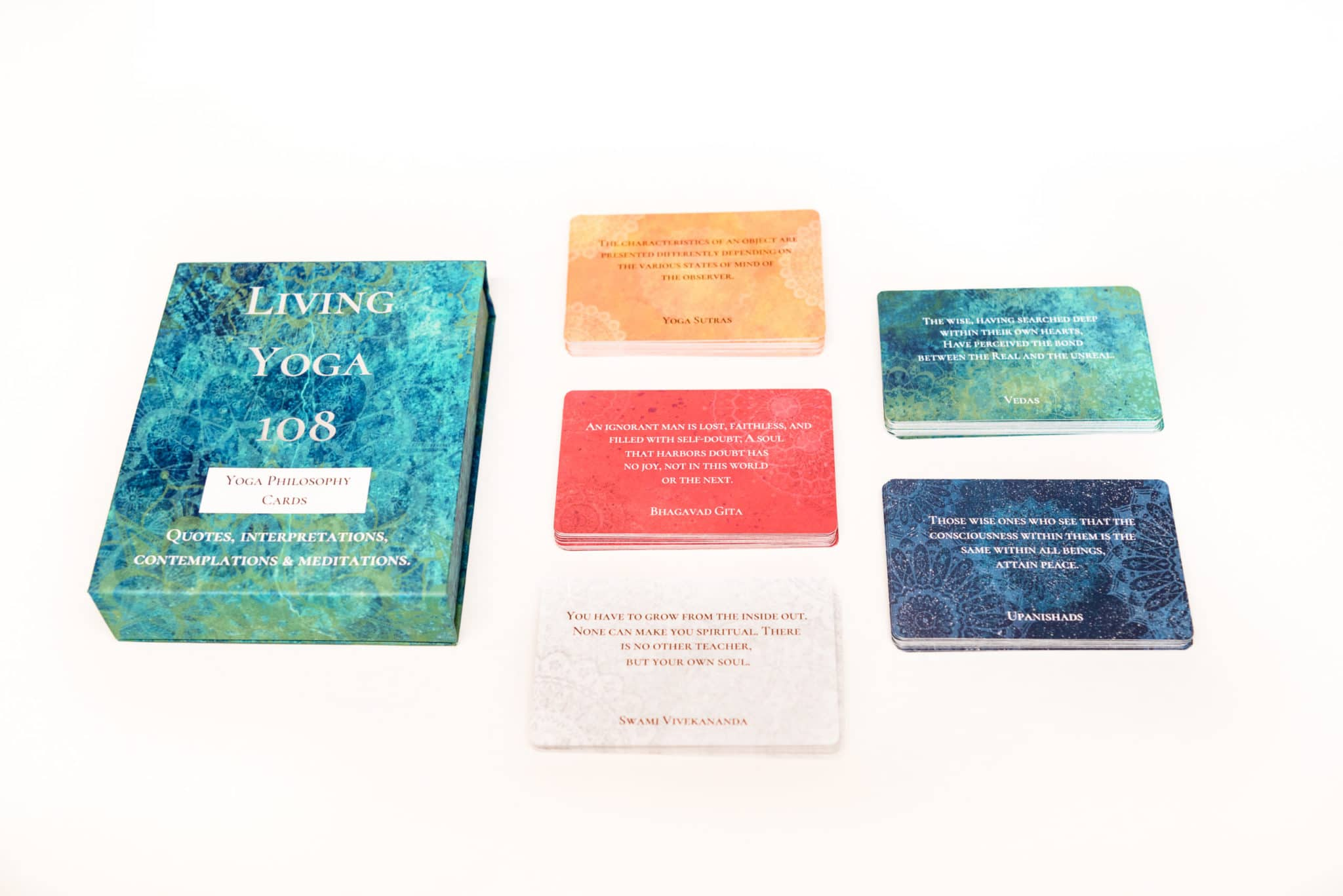 living yoga cards and box